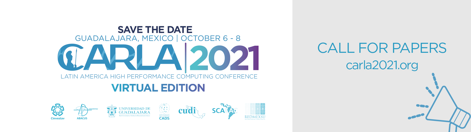 CARLA 2021 October 6 to 8 : CALL FOR PAPERS