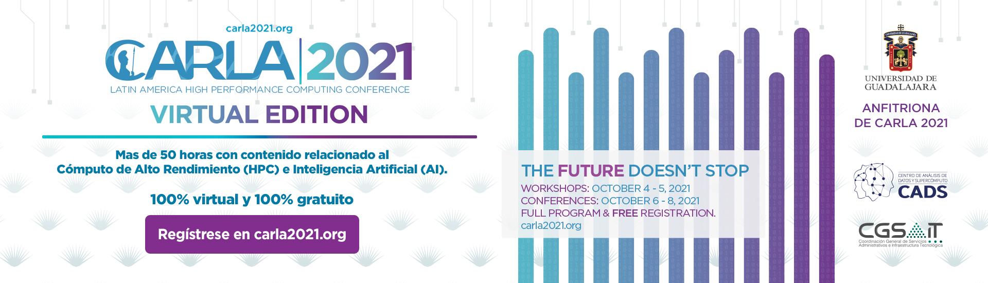 CARLA 2021- Del 4 al 8 de octubre. UDG INVITA